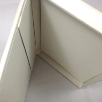 Inside view of silk box for invitations