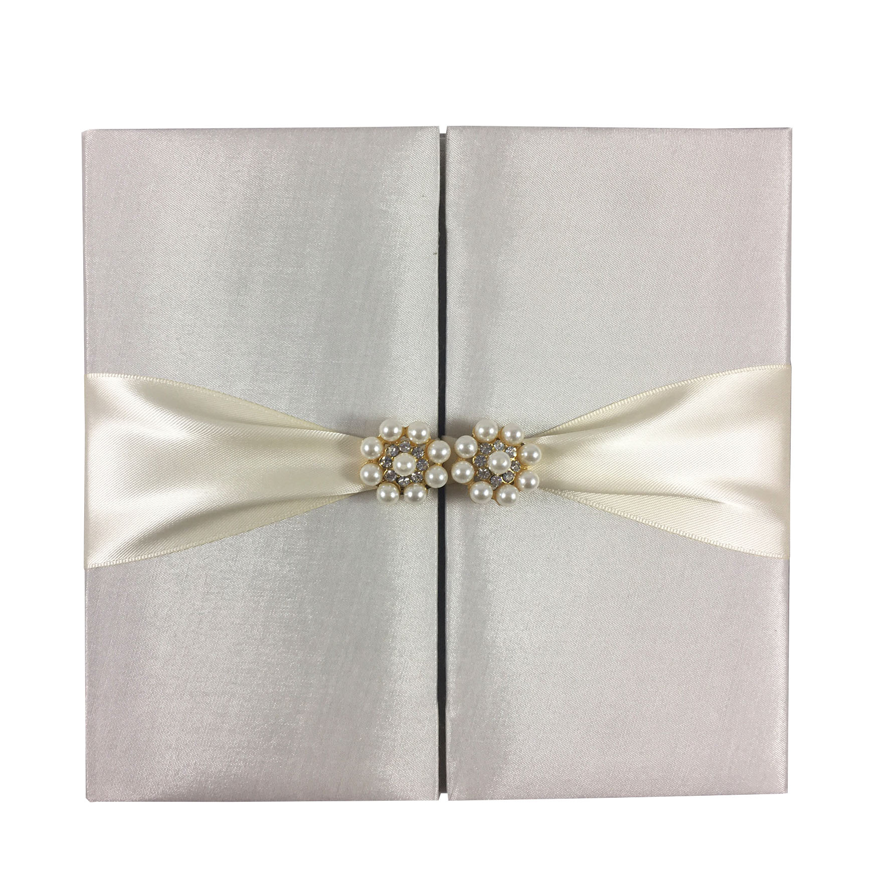 ivory pearl wedding invitation