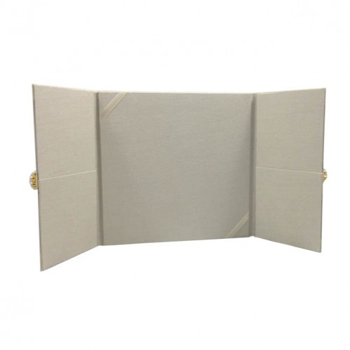 Ivory gate fold invitation with pockets