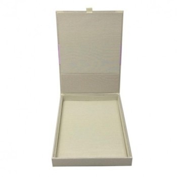 Ivory silk invitation boxes