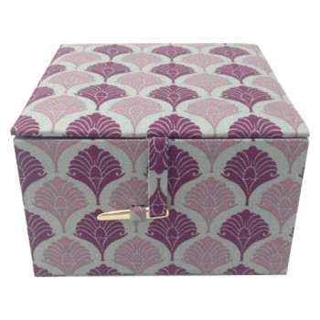 Modern jewellery box featuring printed cotton