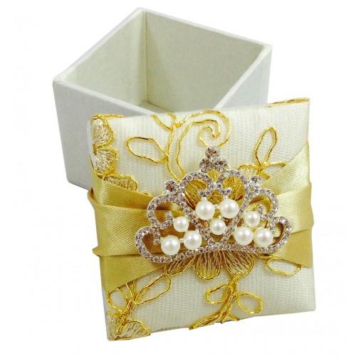 Lace Covered Wedding Favor Box Luxury Wedding Invitations