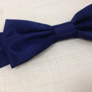 Navy blue silk bow