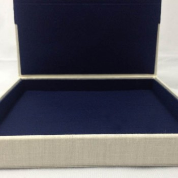 Luxury linen box for wedding cards