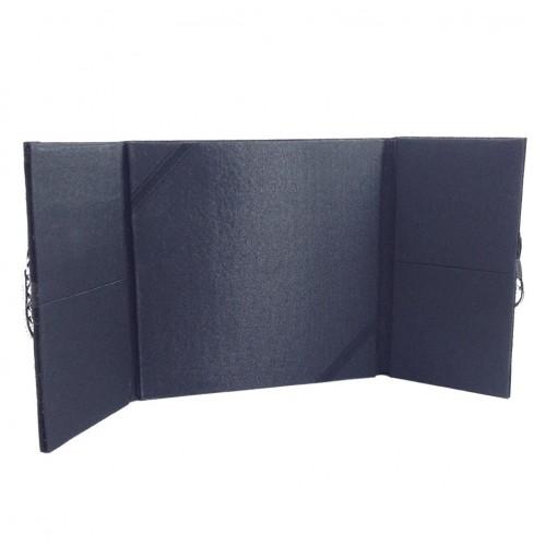 Inside view of our silk + velvet covered folio invitation