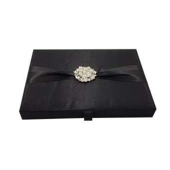 Black faux silk box