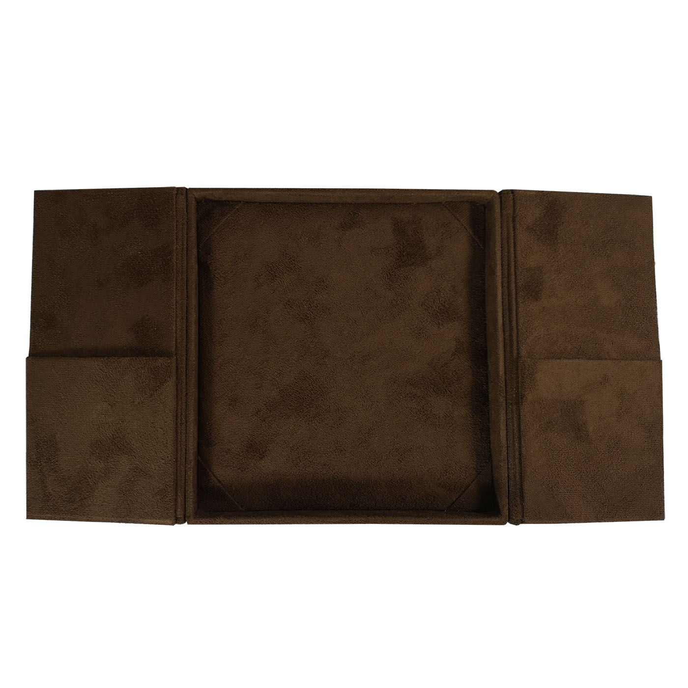 Luxury brown suede box
