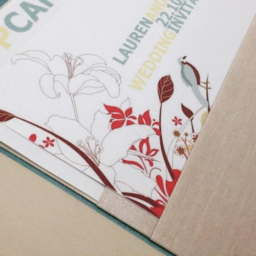 Modern wedding card in pocket holder