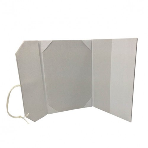 Wedding Invitation Folders With Pocket: LUXURY WHITE SILK INVITATION ENVELOPE POCKET FOLDER WITH