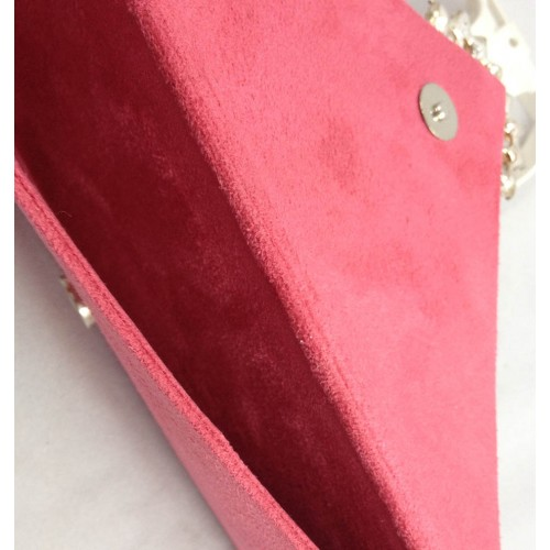 Interior view of suede envelope with magnet lock