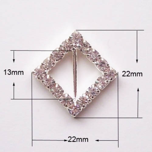 Rhinestone square buckle