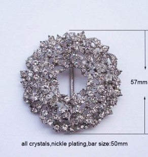 Flower rhinestone crystal buckle