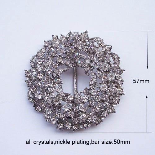 Flower rhinestone crystal buckle