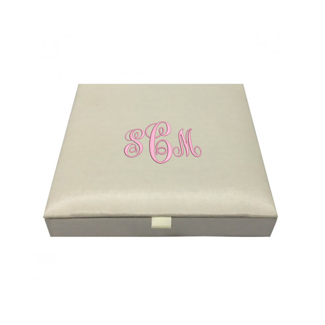 monogram embroidered wedding box