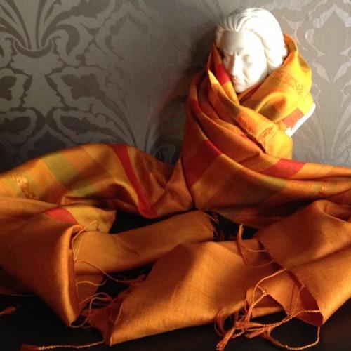 Mudmee silk shawl