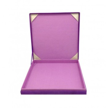 Orchid silk wedding invitation box