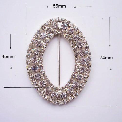 oval crystal buckle