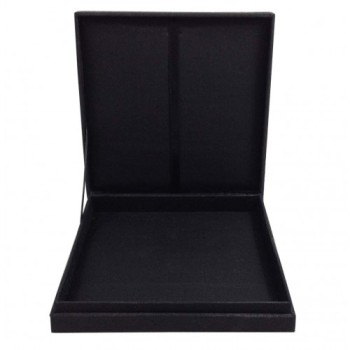 Black faux silk wedding invitation box