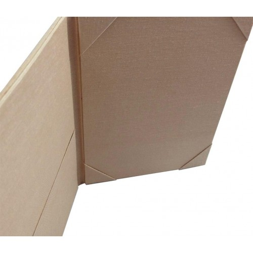Nude color silk folio for wedding invitations