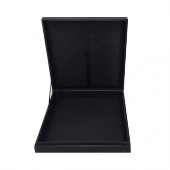 Black 6x6x1 inches silk invitation box