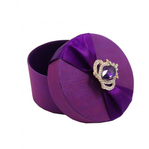 round wedding favour box