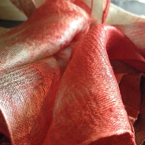 Detailed picture of Thai raw silk