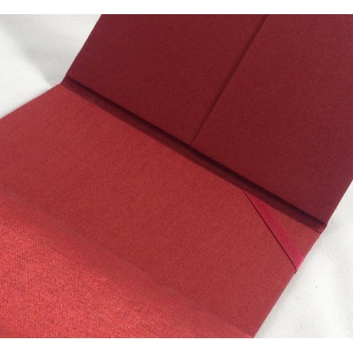 Red gate fold invitations