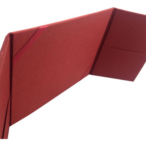 red gate folder with pockets and ribbon holder