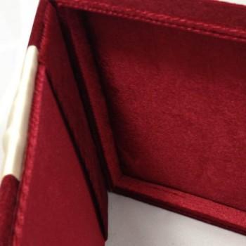 red velvet wedding invitation