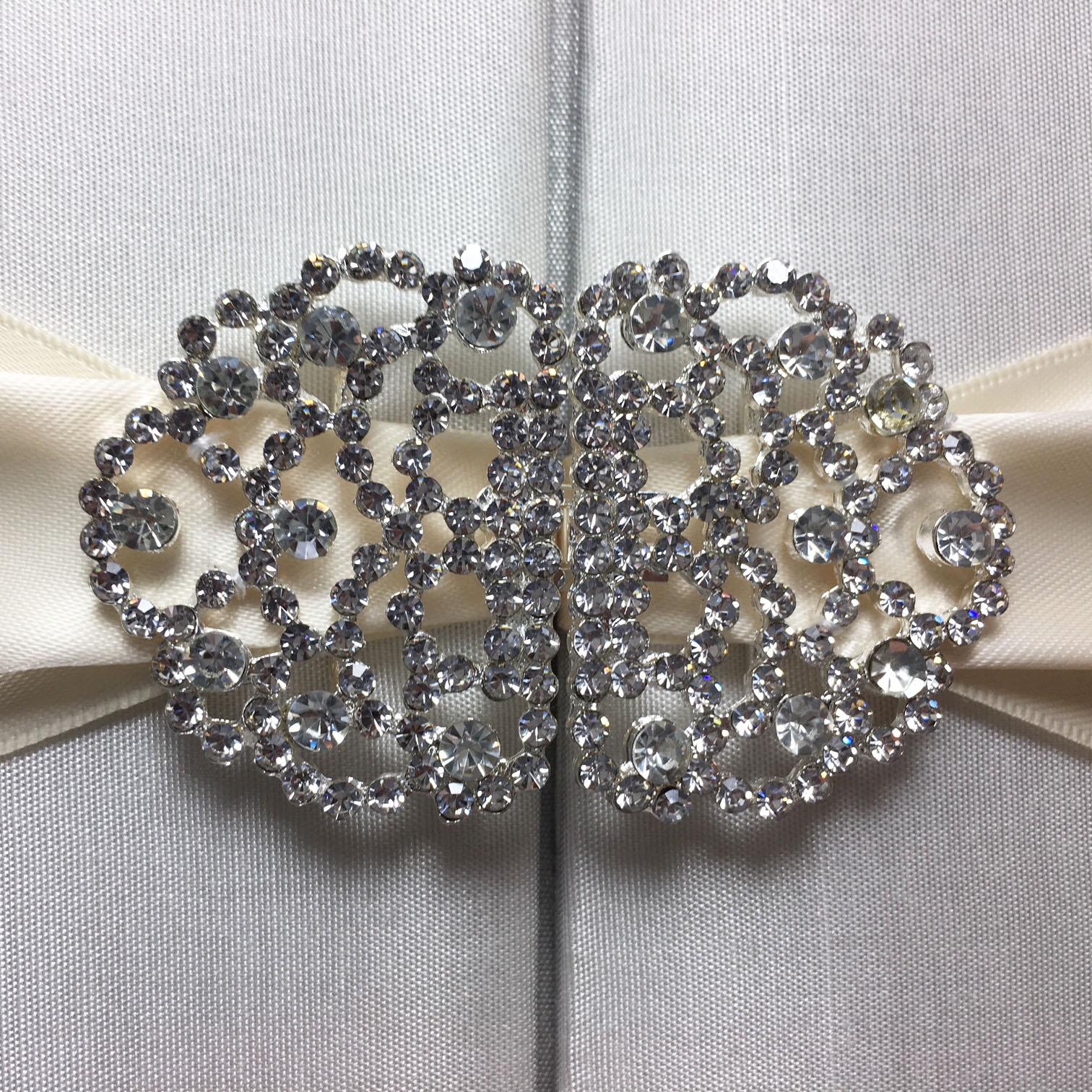 rhinestone wedding brooch