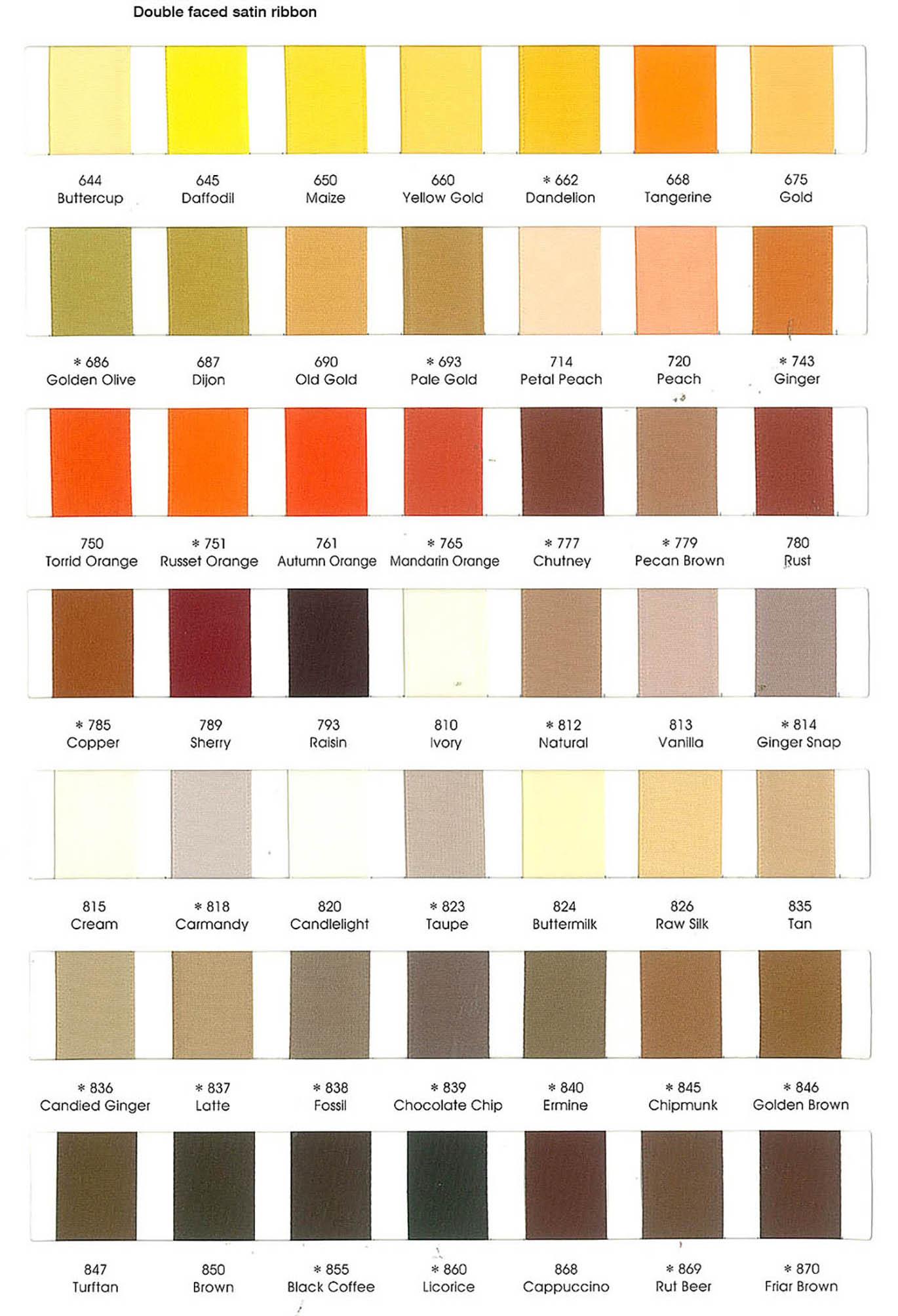 Ribbon Color Chart 03