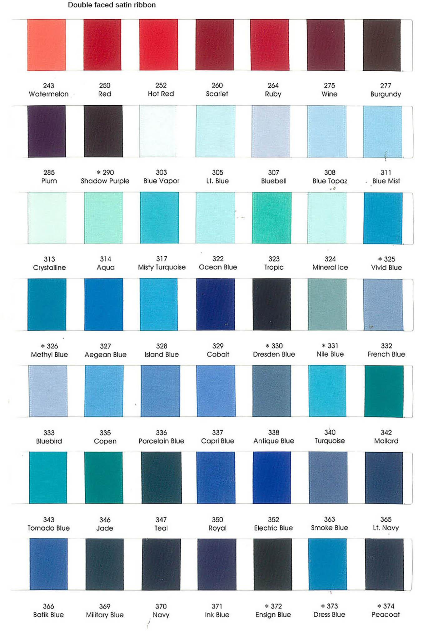 Ribbon Color Chart 04