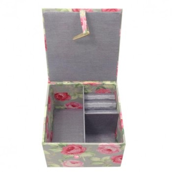 Silk and cotton jewelry boxes
