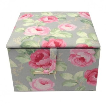 Modern rose flower printed jewellery box