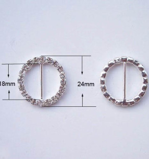 Round crystal buckle