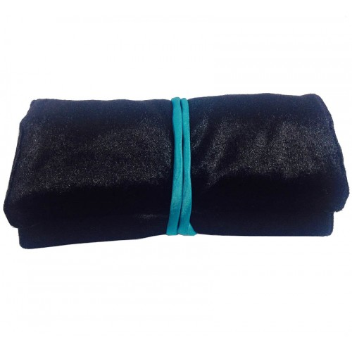 Silk + velvet travel jewellery roll