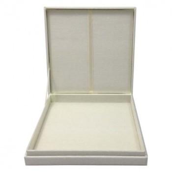 Ivory silk invitation box
