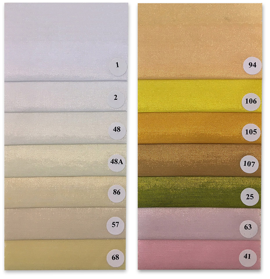 Faux silk color chart 1 of 5