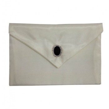 Ivory silk envelope