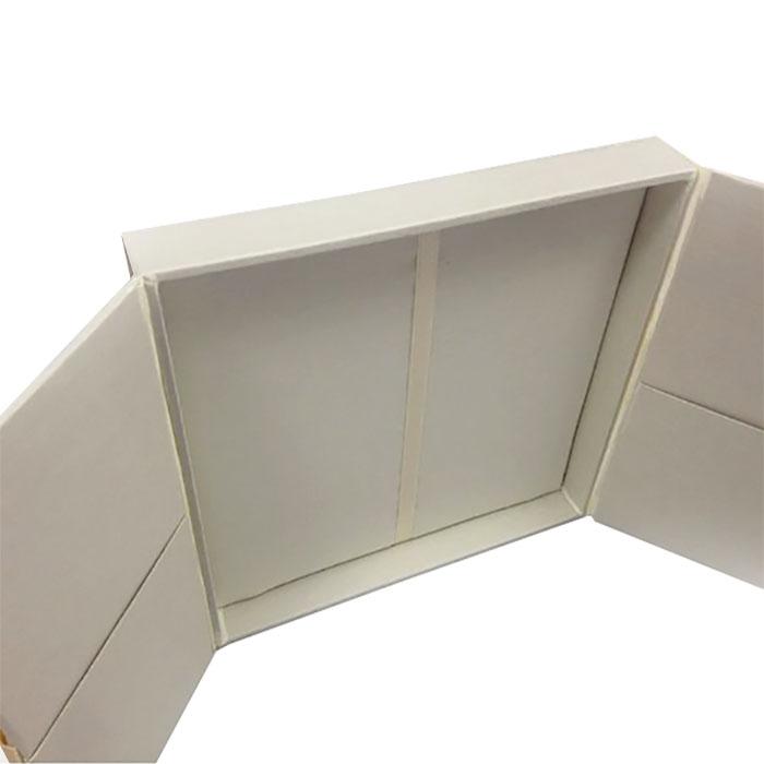 silk invitation box with embellishment
