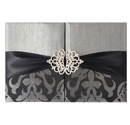 Brocade Silk Invitation Folder