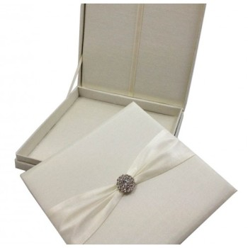 Embellished silk insert inside a silk box for wedding invitations