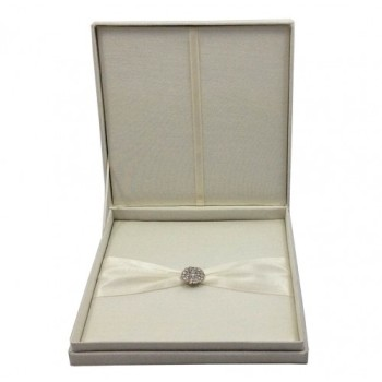 Hinged lid silk box with removable pad for wedding cards