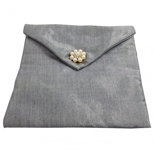 Silver silk envelope