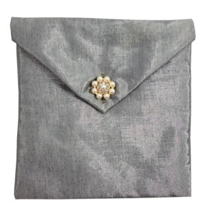 Luxury silk wedding envelope