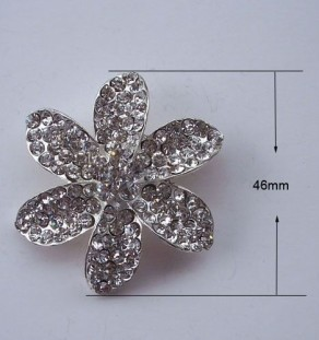 Flower brooches for wholesale