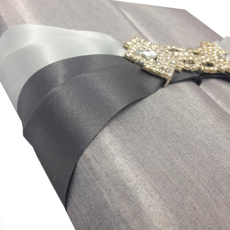 silver gatefold wedding box