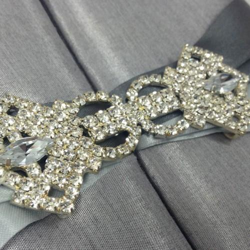Embellished wedding invitation box luxury wedding invitations rhinestone crystal clasp embellished stopboris Images