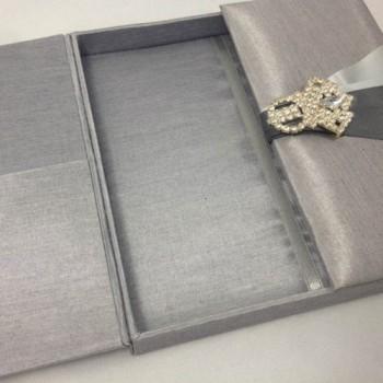 Embellished luxury silk box