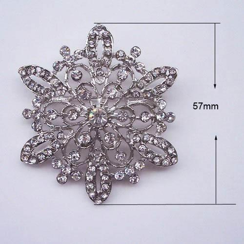 Snowflake Crystal Brooch Embellishment